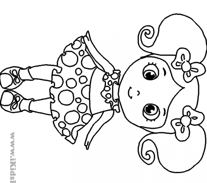 678x600 Little Girl Coloring Pages Little Girl Coloring Pages For All