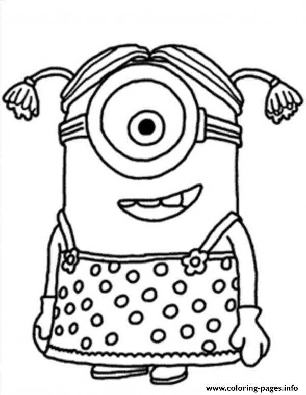 600x775 Little Girl The Minion Coloring Pages Printable