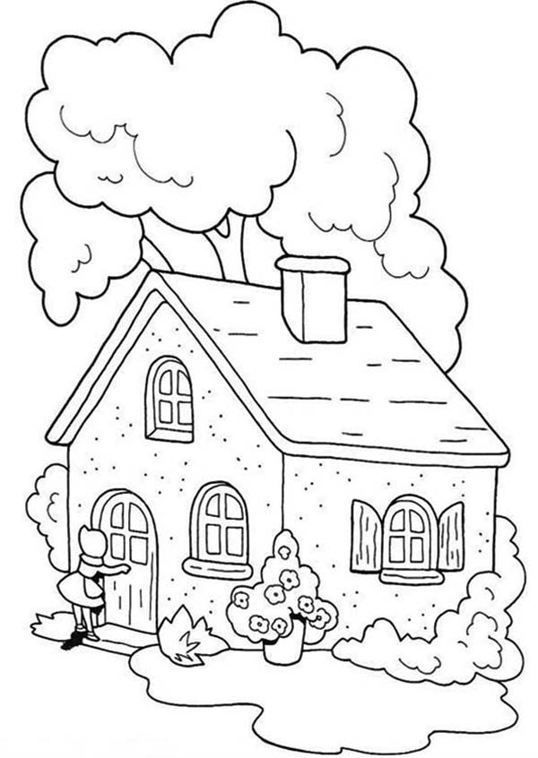 Little House Coloring Pages