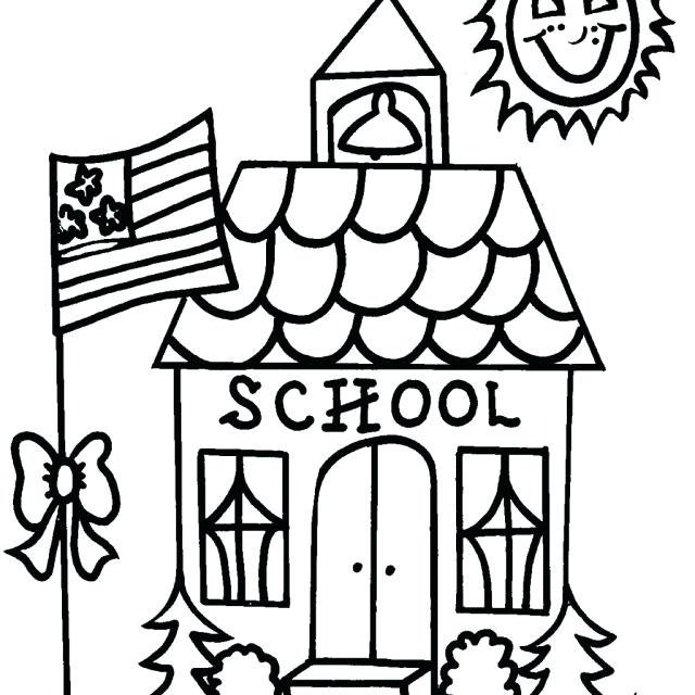 640x640 House Color Page Little House In Houses Coloring Page House