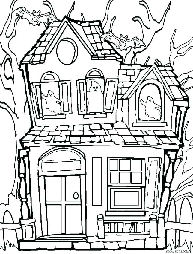 644x850 Monster House Coloring Pages House Coloring Page Little House