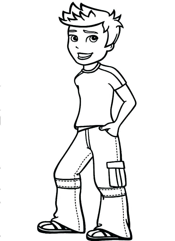 743x1024 Boys Coloring Pages