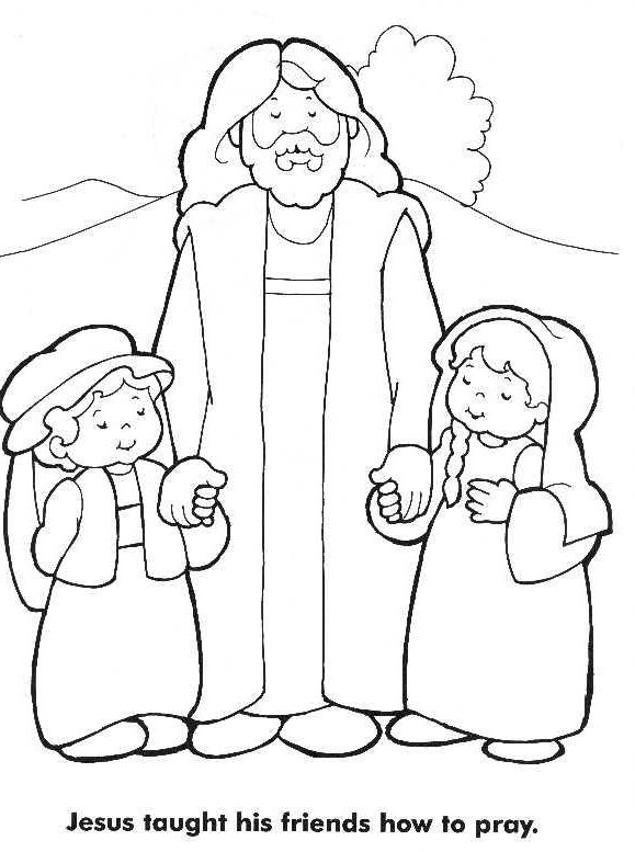 579x777 Childrens Coloring Pages For Church Jesus Loves The Little