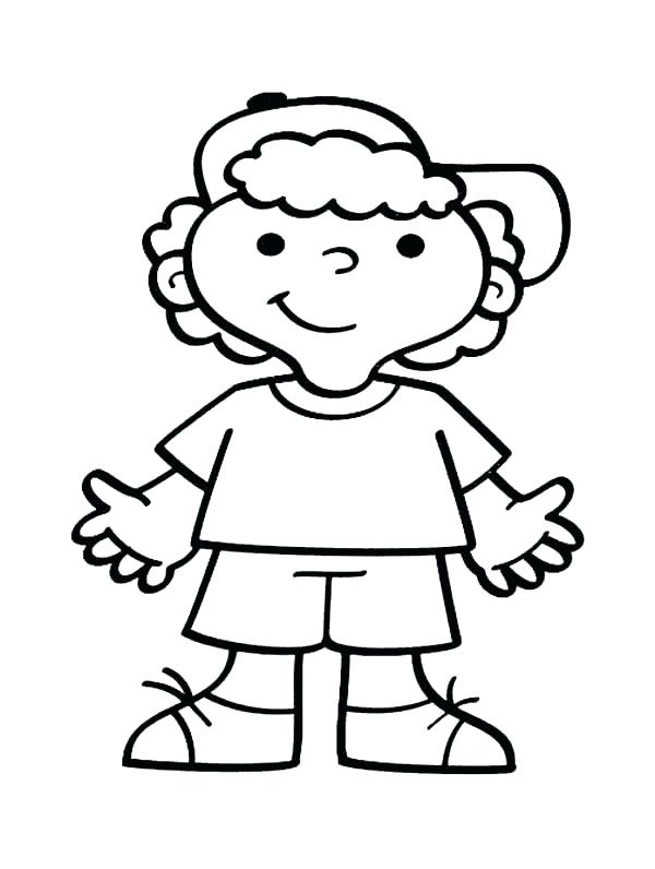 600x796 Coloring Page Boy Coloring Pages Boy Printable In Snazzy Draw Kids