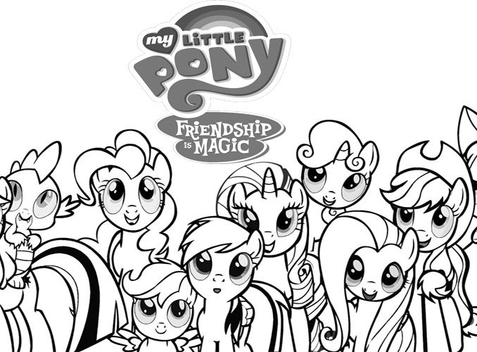 678x500 My Little Pony Print Out Pictures Coloring Page
