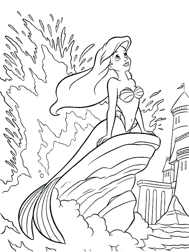 615x820 Little Mermaid Coloring Pages Coloring Page Mermaid Little