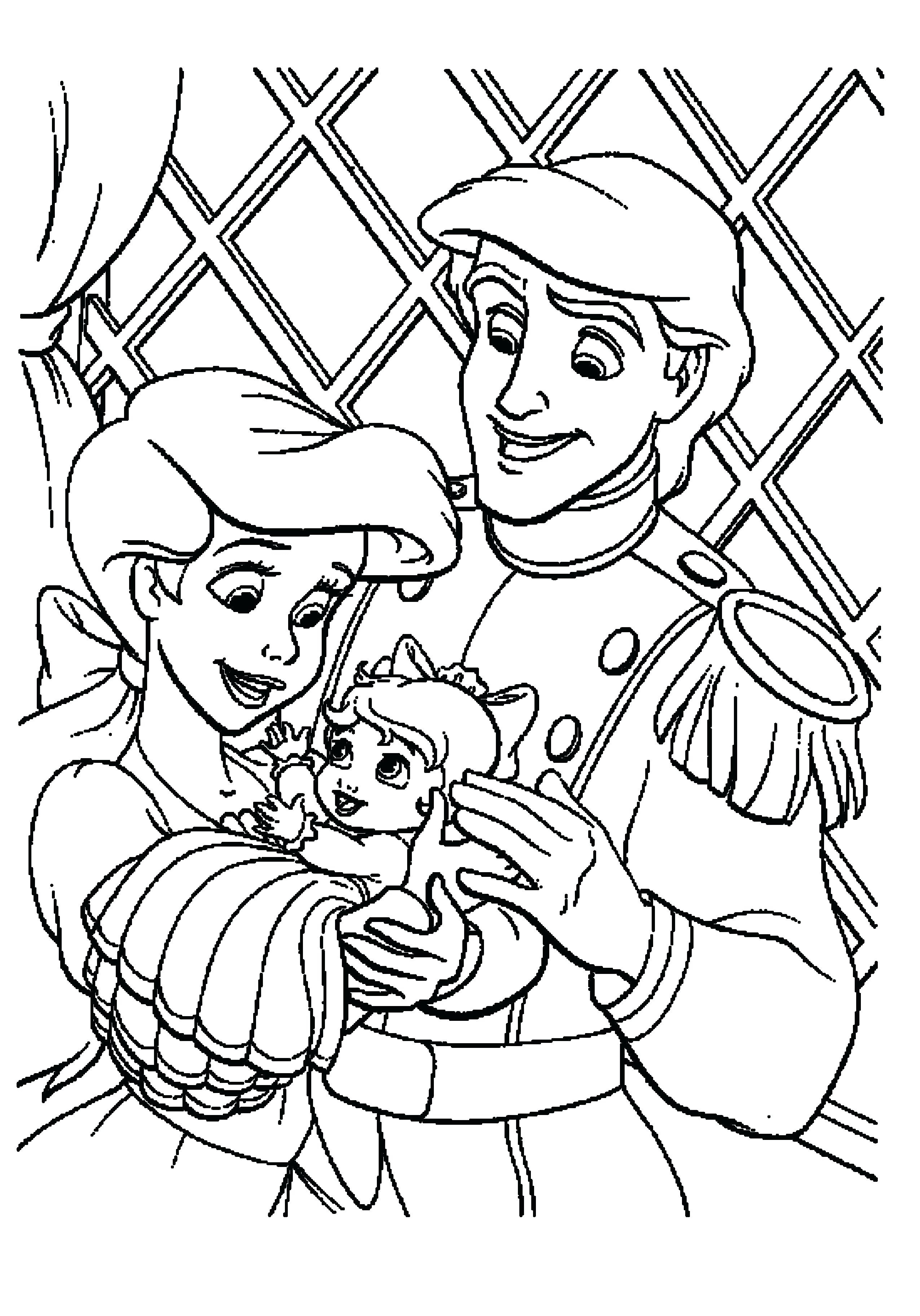 2551x3647 The Little Mermaid Coloring Pages