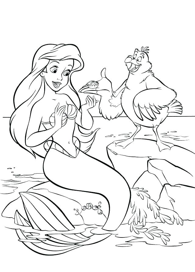 640x890 The Little Mermaid Coloring Pages Coloring Pages Of The Little