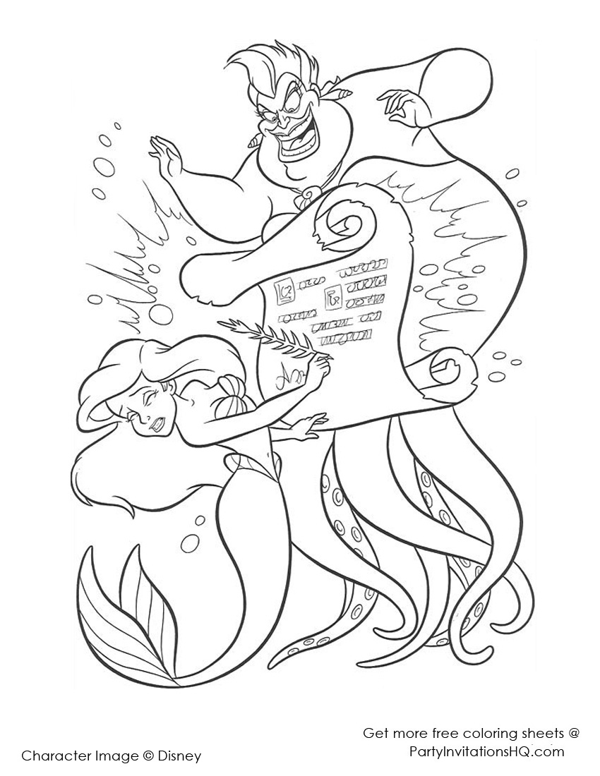 850x1100 The Little Mermaid Coloring Pages The Little Mermaid Coloring