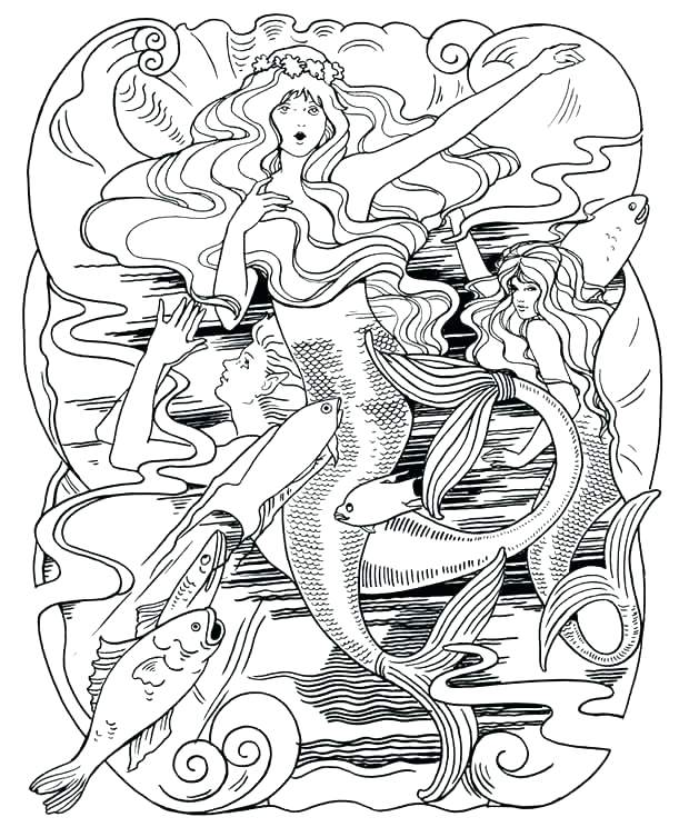 620x744 Little Mermaid Coloring Pages