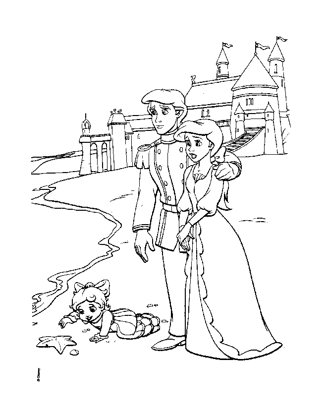 660x847 The Little Mermaid Melody Coloring Pages Coloring Page Zone