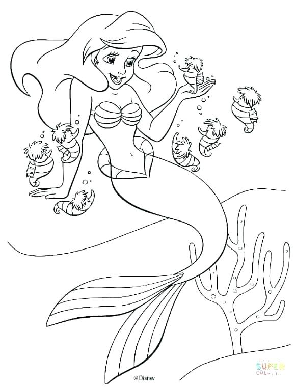 581x760 Coloring Pages Little Mermaid Little Mermaid Coloring Pages