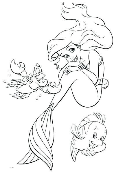 439x600 Coloring Pages The Little Mermaid Coloring Page Little Mermaid