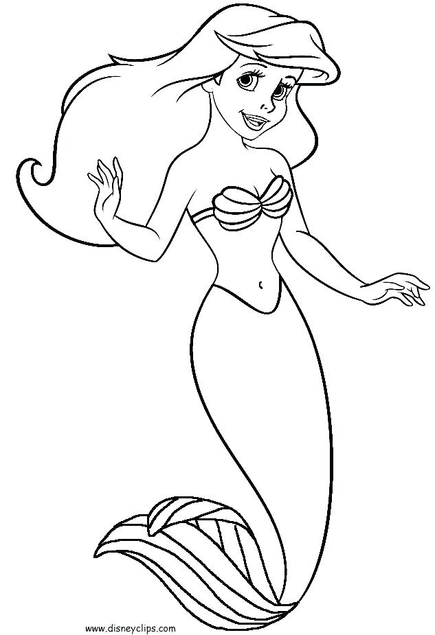 633x925 Free Online Coloring Pages Little Mermaid Little Mermaid Coloring