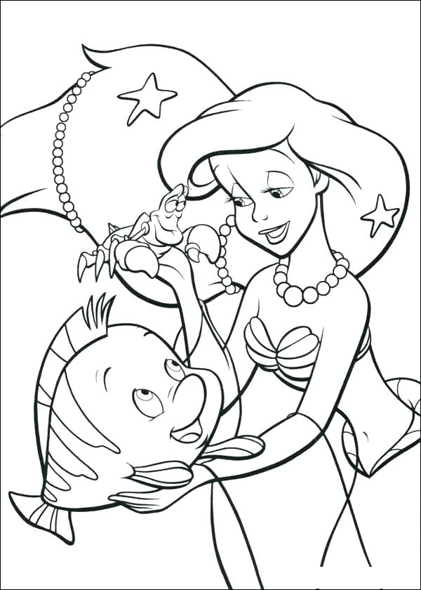 600x840 Little Mermaid Coloring Pages Online Coloring Pages Online