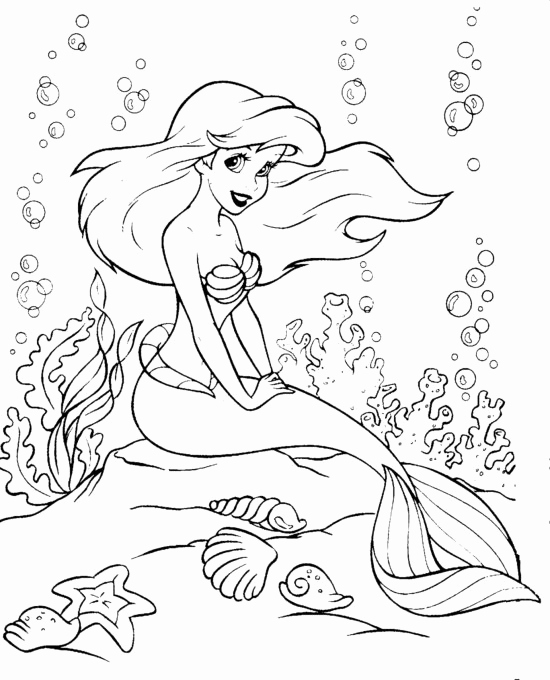 550x680 Little Mermaid Coloring Pages Online Photos Fresh Little Mermaid