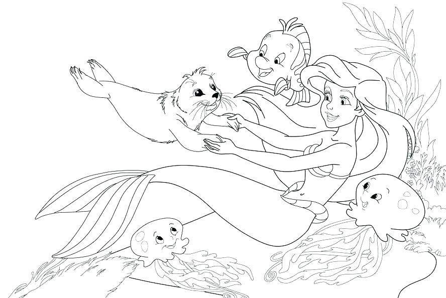 888x594 Coloring Pages Of The Little Mermaid Coloring Pages Little Mermaid