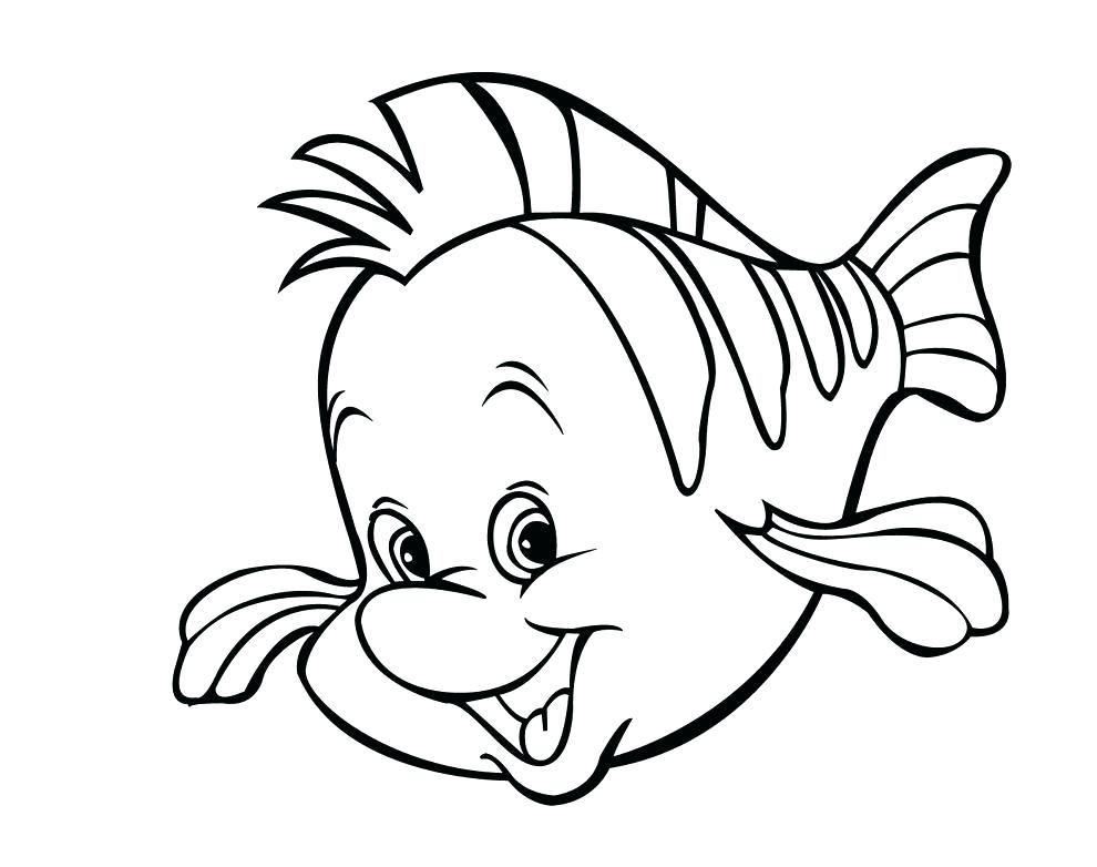 Little Mermaid Flounder Coloring Pages at GetDrawings ...