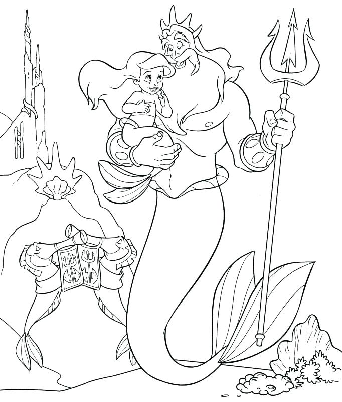 682x800 Mermaid Coloring Pages Online Little Mermaid Color Pages Mermaid