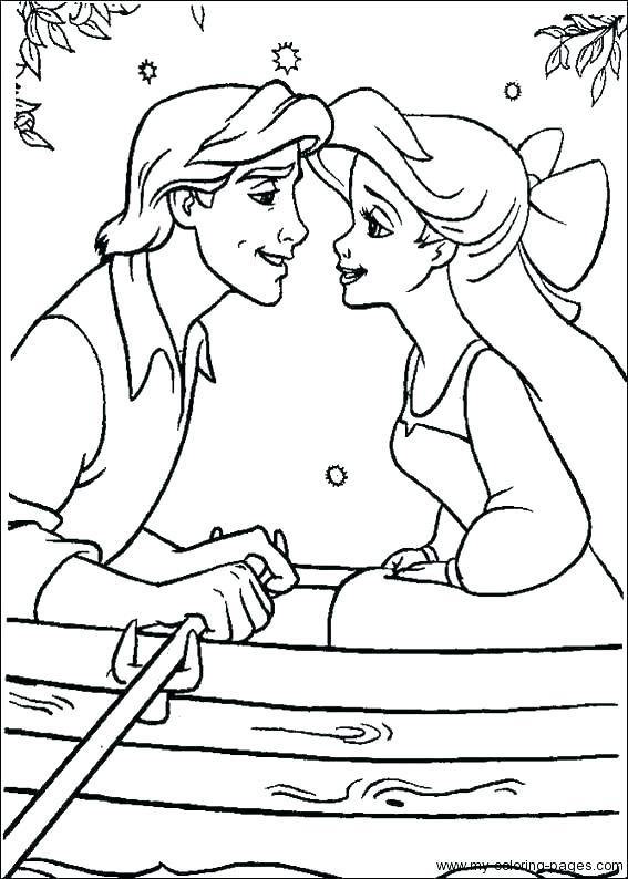Little Mermaid Printable Coloring Pages At Getdrawings Free Download