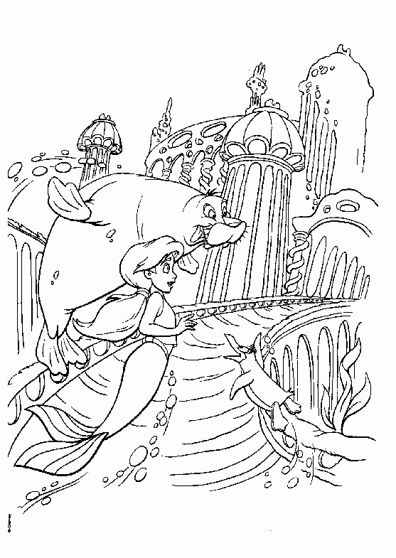 Little Mermaid Sebastian Coloring Pages