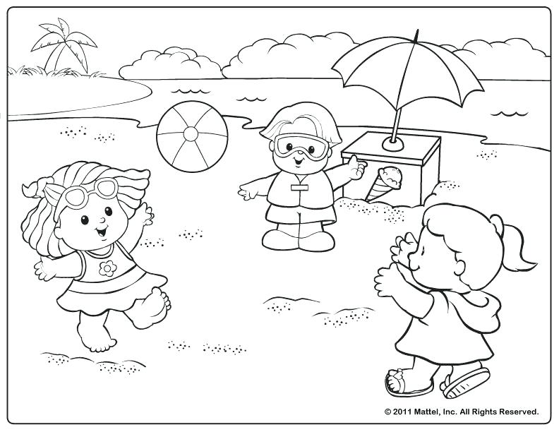 792x612 Little People The Beach Coloring Pages Crafts Little People