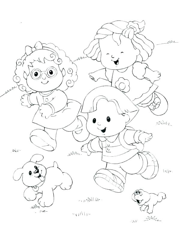 600x780 Little People Coloring Pages Farm Coloring Page Fisher Price