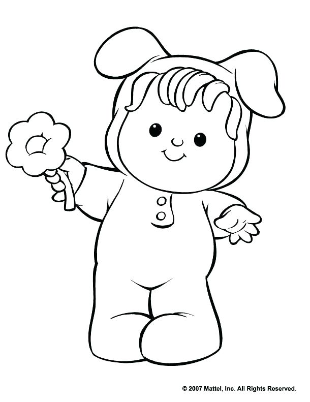 610x791 Little People Coloring Pages The People Coloring Pages
