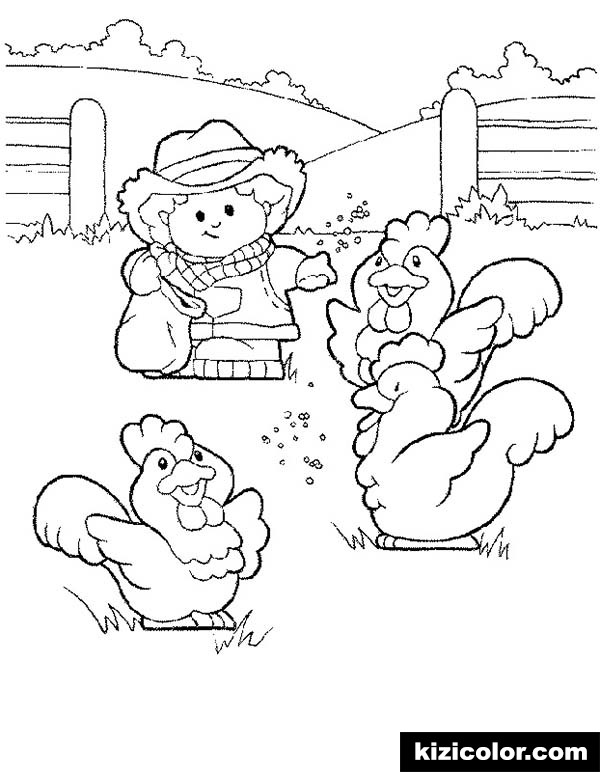 600x772 Little People Feeding Chickens Pages