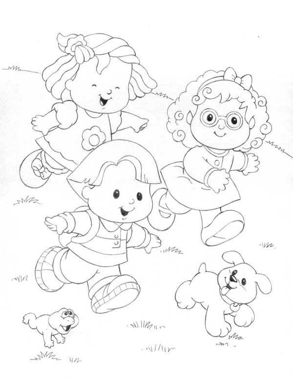 600x780 Little People Coloring Pages Para Colorear People