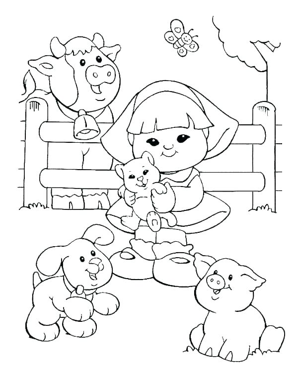 600x784 Barn Coloring Pages Fisher Price Coloring Pages Little People Barn