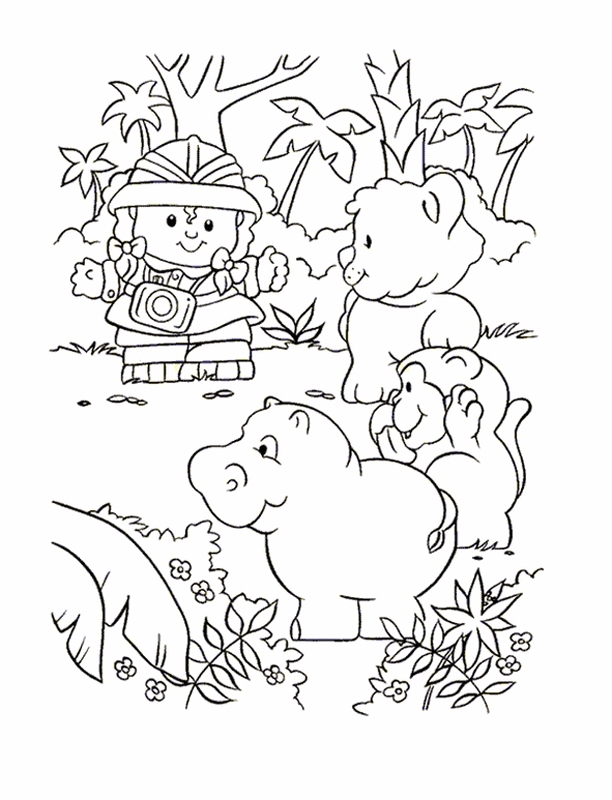 612x800 People Coloring Pages