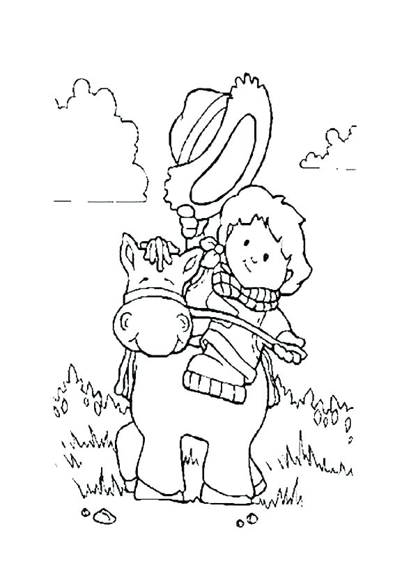 600x841 Coloring Pages Horse People Coloring Pages Little People Coloring