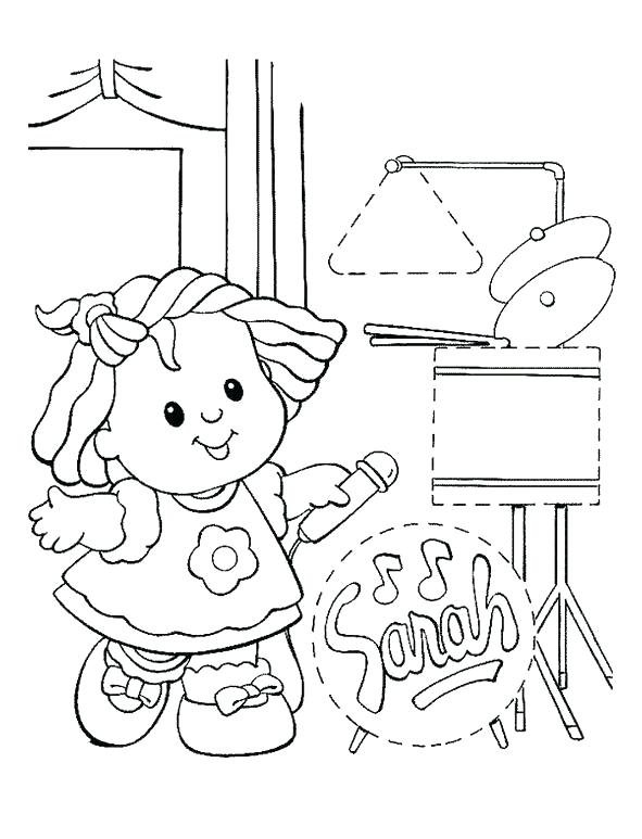 591x773 Fisher Price Coloring Pages Fisher Price Coloring Pages Little