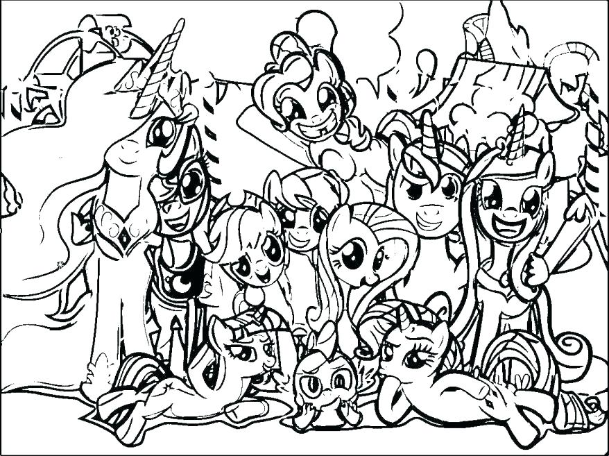878x657 My Coloring Pages Amazing Picture Of My Little Pony Coloring Page