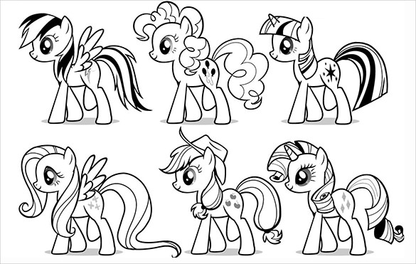 585x371 Best My Little Ponies Coloring Pages For Seasonal Colouring