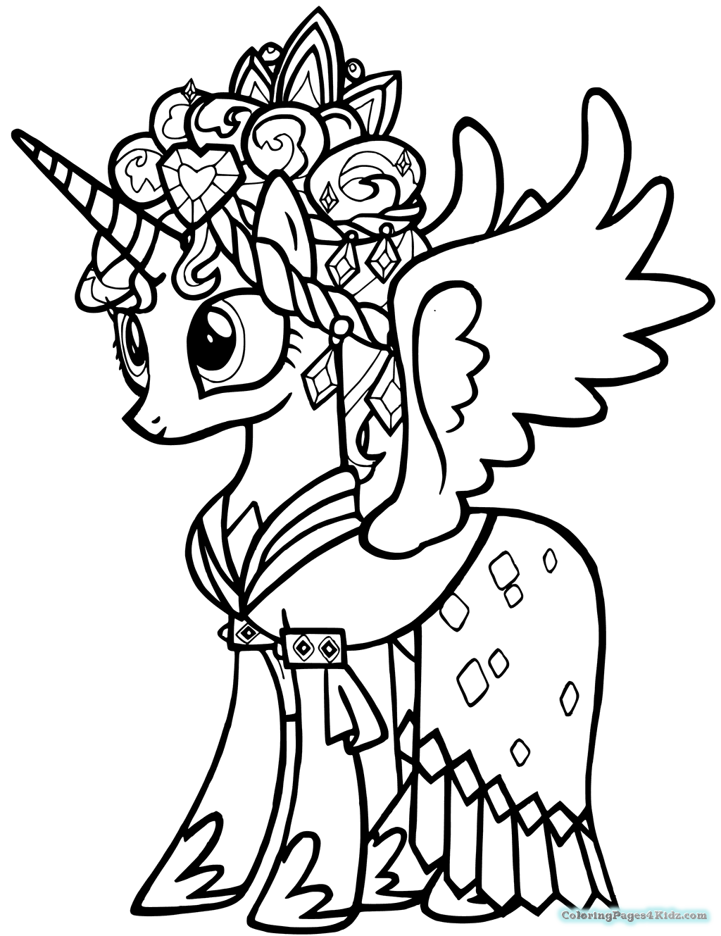 1024x1329 My Little Pony Coloring Pages Princess Cadence Coloring Pages