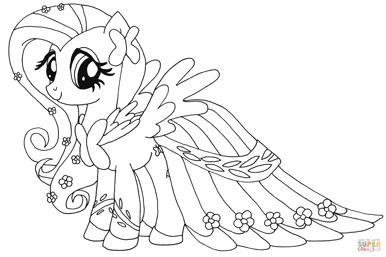 1620x1078 Fluttershy From My Little Pony Coloring Page