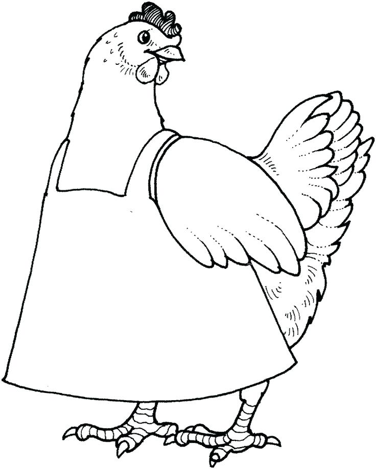 736x919 Hen Coloring Pages The Little Red Hen Coloring Pages Habit Put