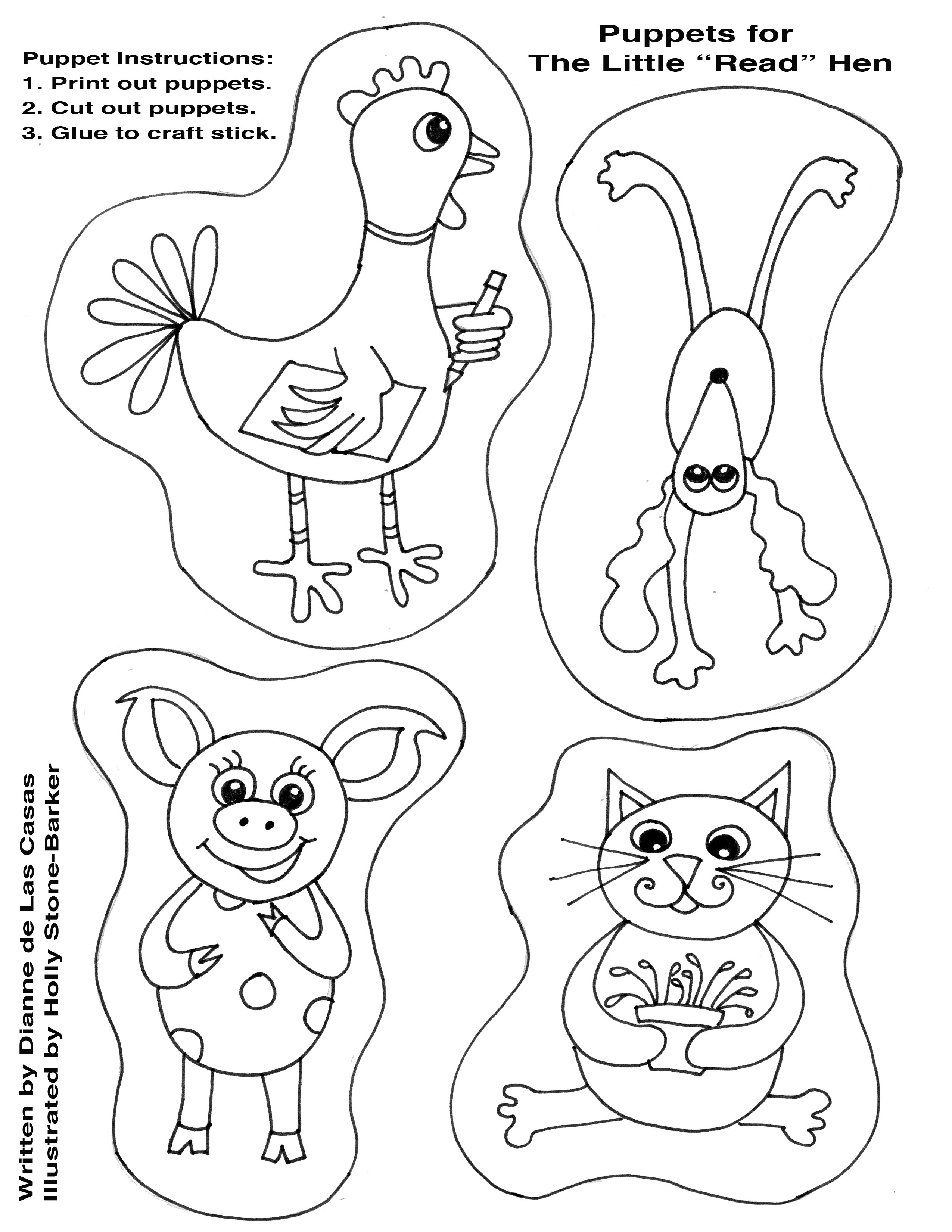 2550x3300 Skill The Little Red Hen Coloring Page Full Rex Pages For Kids