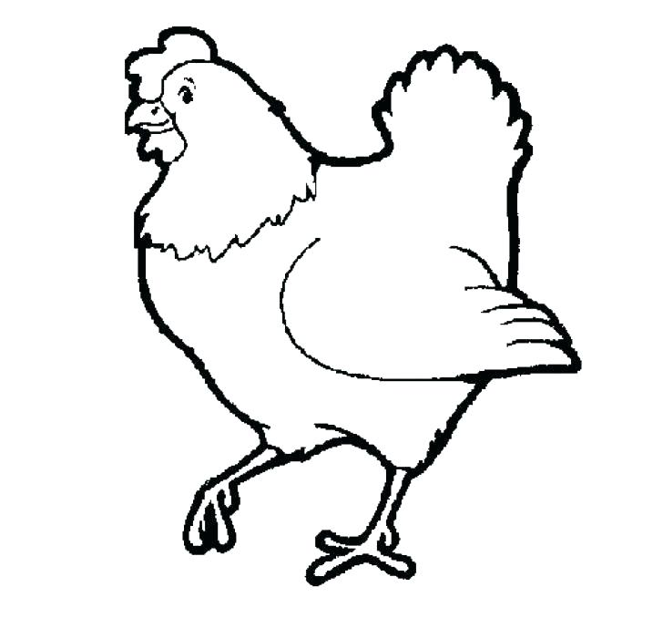728x678 The Little Red Hen Coloring Page Hen Coloring Pages Little Red Hen