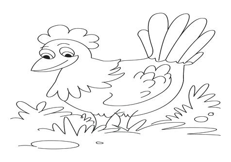 476x333 Little Red Hen Coloring Page