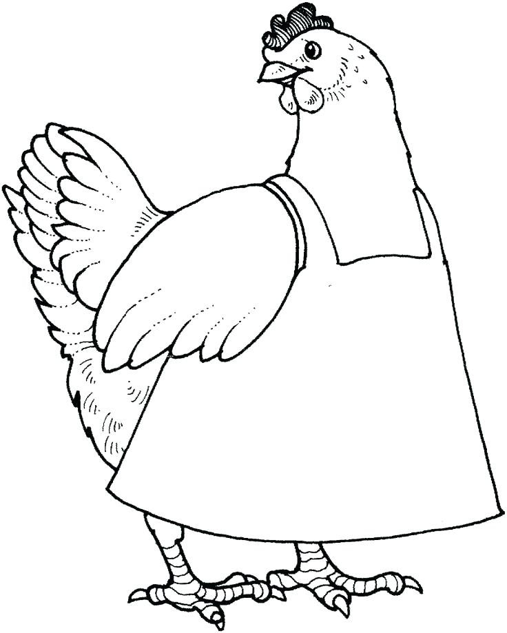 736x919 The Little Red Hen Coloring Pages