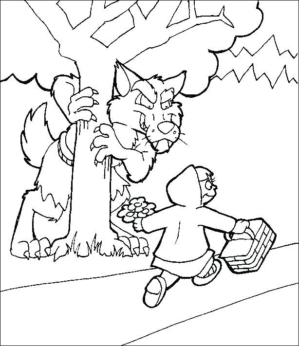614x711 Little Red Riding Hood Coloring Pages Coloring Pages Little Red