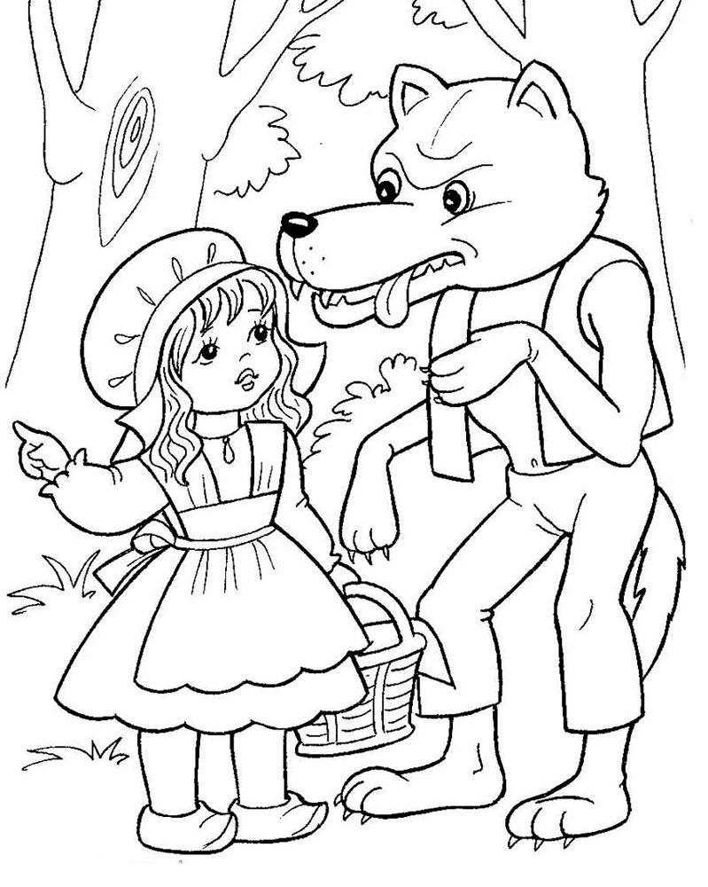 799x1000 Unique Little Red Riding Hood Coloring Pages Design Free