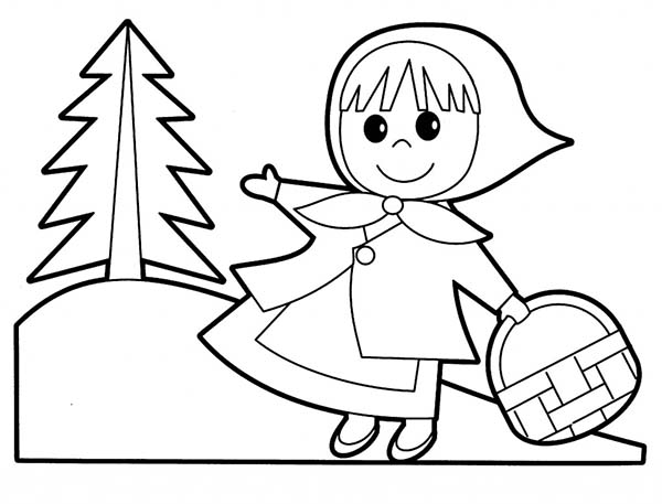 600x457 Little Red Riding Hood Coloring Pages Little People Little Red