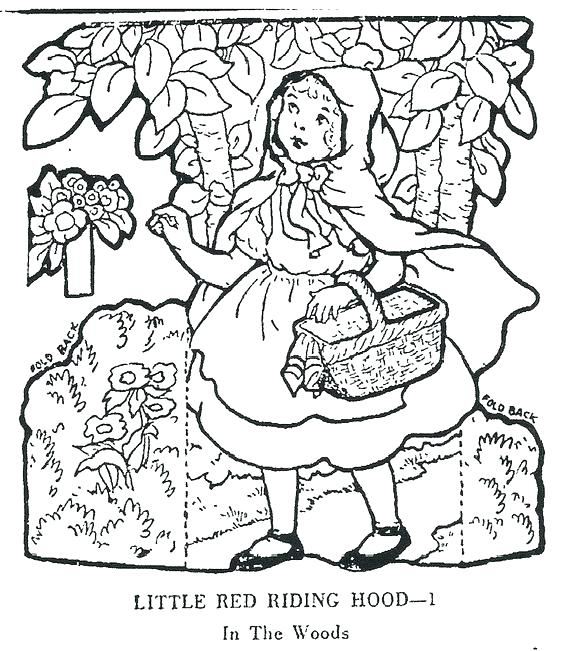 564x651 Little Red Riding Hood Coloring Pages Little Red Riding Hood
