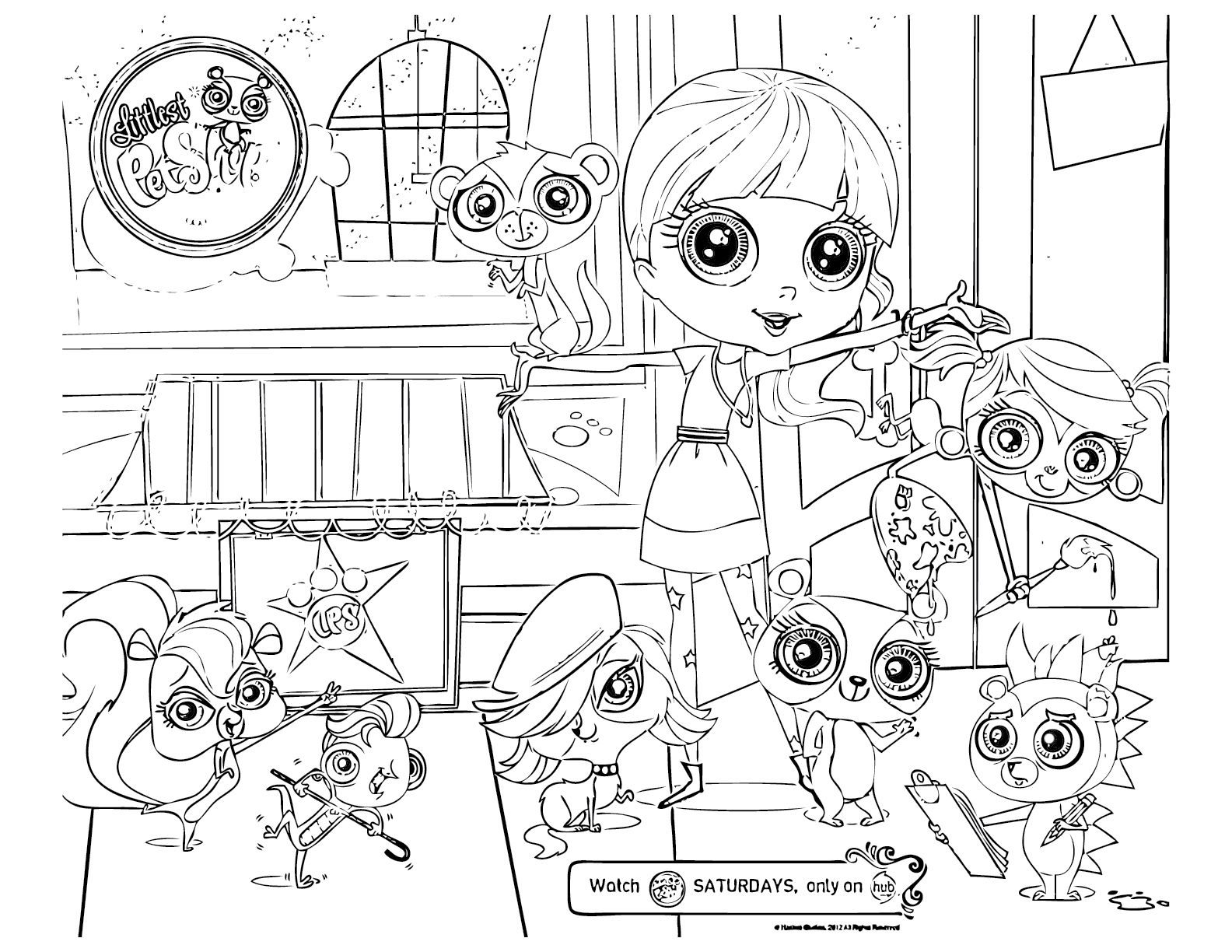 1584x1224 My Littlest Pet Shop Coloring Pages Free Printable Coloring