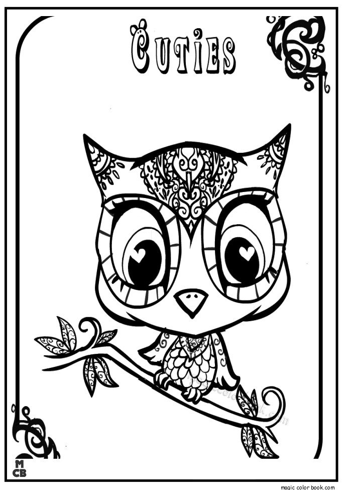 685x975 Cuties Littlest Petshop Coloring Pages Free Online