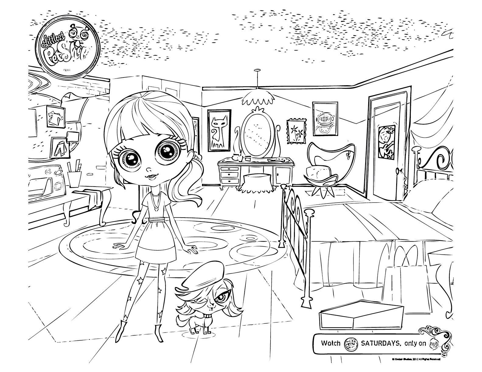1584x1224 Littlest Pet Shop Coloring Pages Zoe